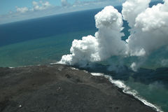 Lava Flow. Aerial View of Lava Flow in Big Island, Hawaii Royalty Free Stock Photography