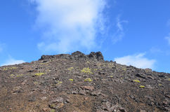 Lava Flow From Eldborg Crater in Iceland Royalty Free Stock Image