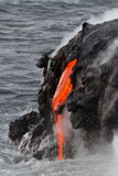 Lava flow. In Hawaii, USA stock images