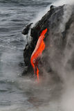 Lava flow. In Hawaii, USA royalty free stock photography