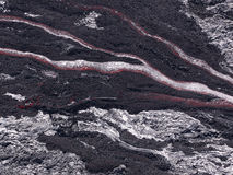 Lava flow at Hawaii Volcano National Park royalty free stock images