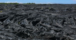 Lava flow near Pahoa, Big Island, Hawaii Stock Photo