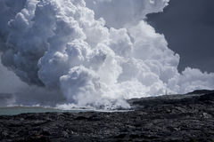 Lava Flow at Ocean 9920 Stock Images
