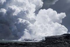 Lava Flow at Ocean 9943 Royalty Free Stock Image
