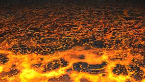 Lava flow (Render) Stock Images