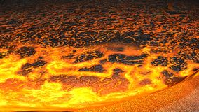 Lava flow (Render). Render of Lava flowing towards camera.(Render Royalty Free Stock Photography