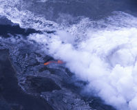 Lava flow into sea Stock Image