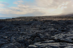 Lava flows on the big island of Hawaii Royalty Free Stock Photo