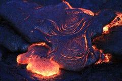"""Lava Flows From Hawaii & x27; s KÄ """"laueavulkaan Royalty-vrije Stock Afbeelding"""