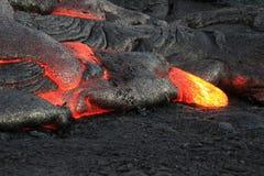 """Lava Flows From Hawaii & x27; vulcão lauea de s KÄ do """" Fotografia de Stock Royalty Free"""