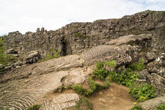 Lava formation Iceland Royalty Free Stock Images