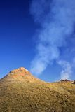 Lava and fumes. View of fumes and hashes coming from the top of Pacaya volcano in Guatemala Stock Photography