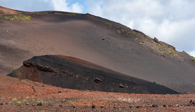 Lava geological landscape, Lanzarote, Spain Royalty Free Stock Image
