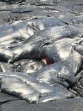 Lava hawaiana Fotografie Stock