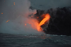 Lava in Hawaii Royalty Free Stock Photography