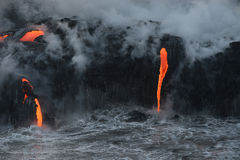 Lava in hawaii Stock Image