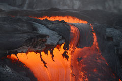 lava in hawaii Royalty Free Stock Photos