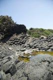 Lava indurita del vulcano dormiente Fotografia Stock