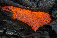 Lava isola del ` s delle Hawai sulla grande Immagine Stock