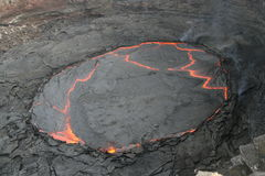 The lava lake Stock Photo