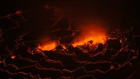 Lava Lake Nyiragongo attivo fotografia stock