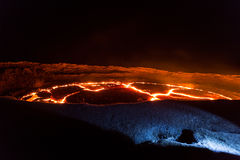 Lava lake of volcano Erta Ale. Ethiopia Royalty Free Stock Photos