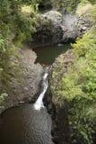 Lava lakes on tropical island royalty free stock photo
