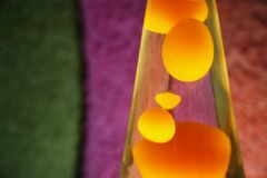 Lava Lamp. With yellow contents Stock Photography