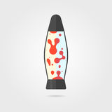 Lava lamp icon with shadow Stock Photography