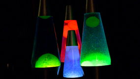 Lava Lamps Time Lapse stock footage
