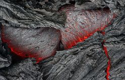Lava is molten rock generated by geothermal energy and expelled through fractures in planetary crust or in an eruption. Usually at temperatures from 700 to 1 royalty free stock images