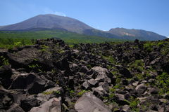 Lava and Mt. Asama Royalty Free Stock Image