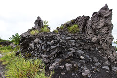 Lava from Mt Sakurajim Royalty Free Stock Photo