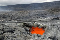 Lava-Oberlicht Stockbild
