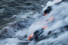 Lava Ocean Entry Stock Photo