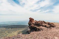 Lava op de vulkaan van Ondersteletna royalty-vrije stock afbeelding