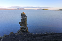 Lava pillar at Lake Myvatn, Iceland Stock Photos
