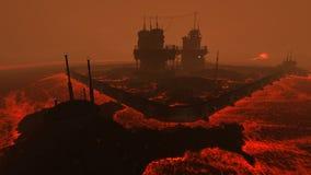 Lava plant illustration Royalty Free Stock Photo
