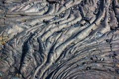 Lava preta Solidified. Imagens de Stock