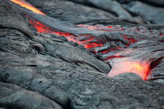 Lava River. Lava flowing on the Big Island, Hawaii Stock Photography