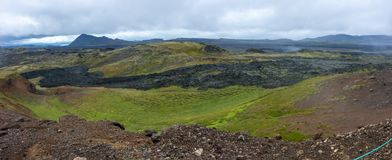 Leirhnjukur - Clay Hill lava field in North Iceland stock photo