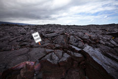 Lava on the road Royalty Free Stock Photography