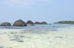 Lava rock beach Stock Photography