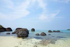 Lava rock beach Royalty Free Stock Image