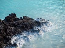 Lava Rock at the Blue Lagoon, Iceland Stock Photo