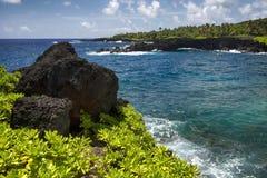 Lava Rock, Waianapanapa-het park van de staat Maui, Hawaï Royalty-vrije Stock Afbeeldingen
