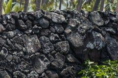 Lava Rock Wall Royalty Free Stock Photos