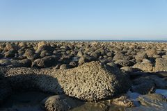 Lava rocks at the coast Stock Image