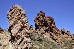 Lava rocks in the island of Tenerife Royalty Free Stock Image