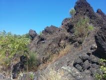Lava rocks in Sicily Stock Photo